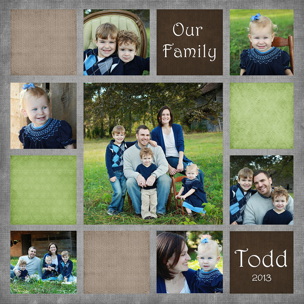 Todd Our Family  #2 13 square 8x8 10x10 12x12