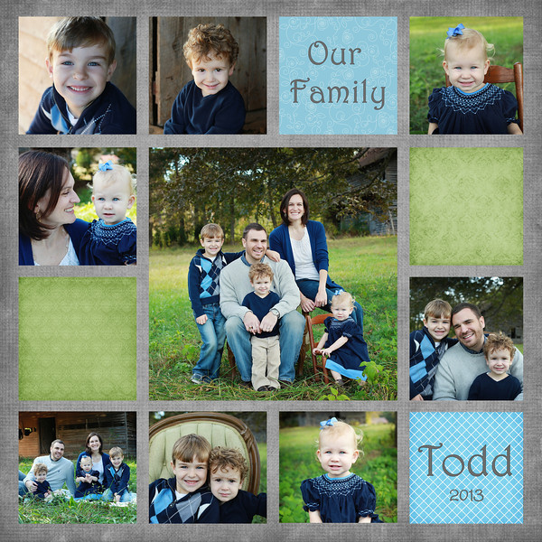 Todd Our Family 13 square 8x8 10x10 12x12