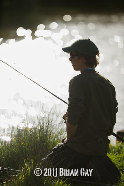 Tim Oliver stalking surface feeding carp.