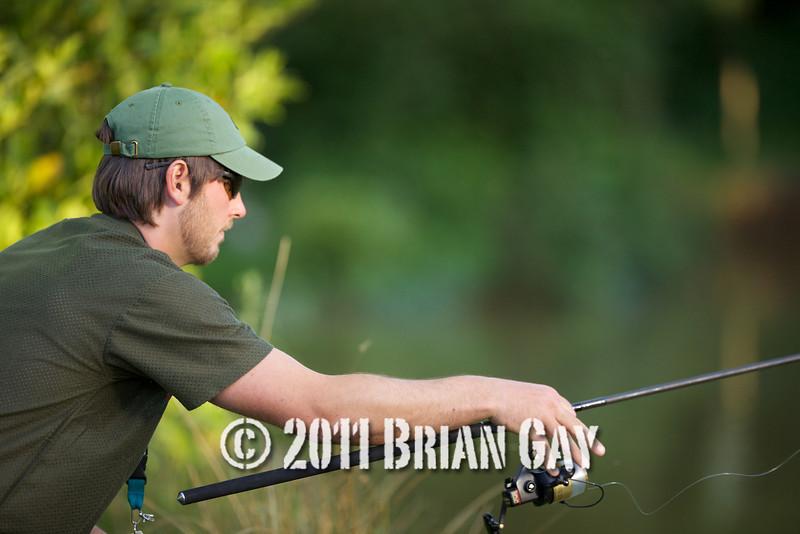 Graham Mabey fishing the top Lake at FLE Greenridge Farm