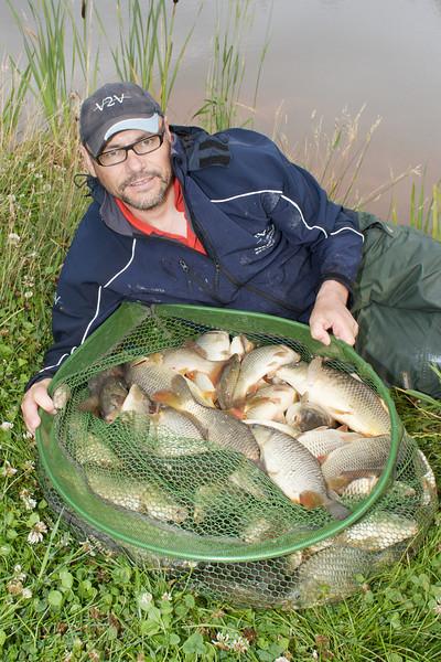 Brian Gay fishes Nether Stowey Lake 1. © 2009 Brian Gay