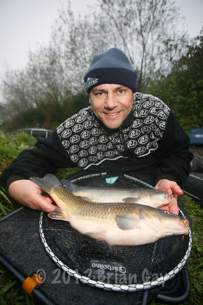 A couple of winter carp from Tadham Pool, Lands End Farm. © Brian Gay