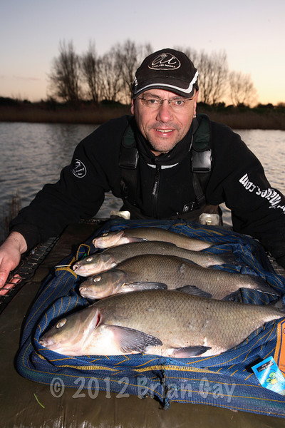 A January feeder caught bag of bream from Apex Lake at Highbridge. © Brian Gay