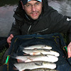 A February net of chub from Somerset's River Brue. © Brian Gay