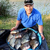 The late Pete Hodge, Somerset bream legend put me on a suberb peg on the Huntspill for this net of bream. © Brian Gay