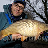 This was my last fish of the day. Unfortunately the batteries were flat in my digital scales so I wasn't able to weigh it. The superbly conditioned common carp fell for poled soft pellet. © 2011 Brian Gay