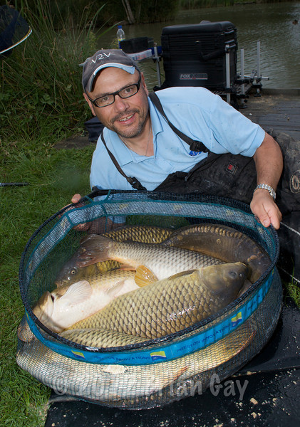 Here's my bag of eight carp to mid doubles. © 2009 Brian Gay. Licensed to Angler's Mail IPC media for editorial use in Angler's Mail.