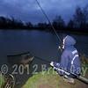 Simon Springell nets a 21 lb carp