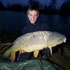 Simon Springell with a 21 lb mirror carp from Burton Springs