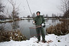 When it's cold spinning for perch keeps you active, carrying a small bag with lures, forceps and pliers, a landing net and a  7 ft. spinning rod I can cover a lot of ground quickly to search a venue. It is a great way to grab a  couple of hours before or after work too. © 2013 Brian Gay