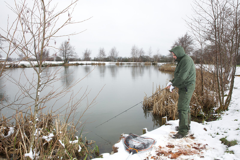 Working my way round the pond I like to fan cast the water in front of me, for example the first cast to me left, the next a mere or two to its right, repeating until the last cast is to my right. Then i work the fan back to the start. Sometimes you pick up fish on the second pass through the same piece of water. © 2013 Brian Gay