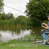 Brian Gay playing a bream. Burton Springs Carp Lake, Burton, Somerset. © 2010 Brian Gay