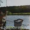 Netting a bream on the Dorset Stour's Crown Meadows at Blandford Forum. © 2008 Brian Gay