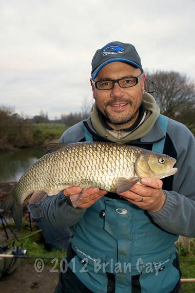 Brian Gay, 6 lb 2 oz chub, Dorset Stour, Longham, stick and maggot. © 2010 Brian Gay