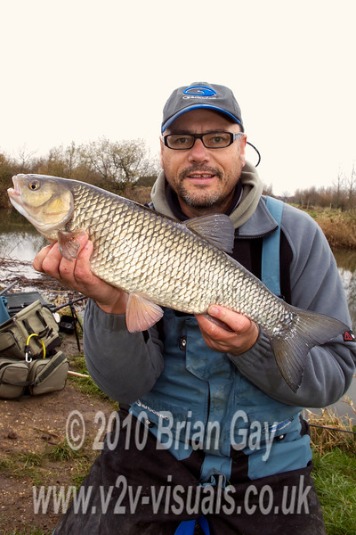 4 lb 15 oz Dorset Stour chub caught stick and maggot. © 2010 Brian Gay