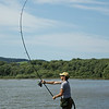 Shawm Kittridge casting a midi sized Spomb at Durleigh reservoir © 2014 Brian Gay © 2014 Brian Gay v2v-visuals.co,uk