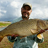 Brian Gay holds a pristine 16 lb 8 oz Durleigh common carp
