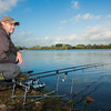 Brian Gay glad to be back behind the rods at Durleigh Reservoir. This swim was the first bush on the Lodge bank.