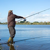 Brian Gay casting the Nash NRXD 13 ft 3.5 rods at Durleigh Reservoir. This swim was the first bush on the Lodge bank.