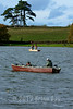 a sight anglers will have to get used to. Pike boats afloat at Somerset's Durleigh reservoir with bank carpers in the background. © 2012 Brian Gay