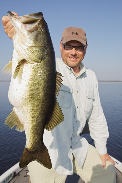 Brian Gay with a 7lb-plus largemouth bass.