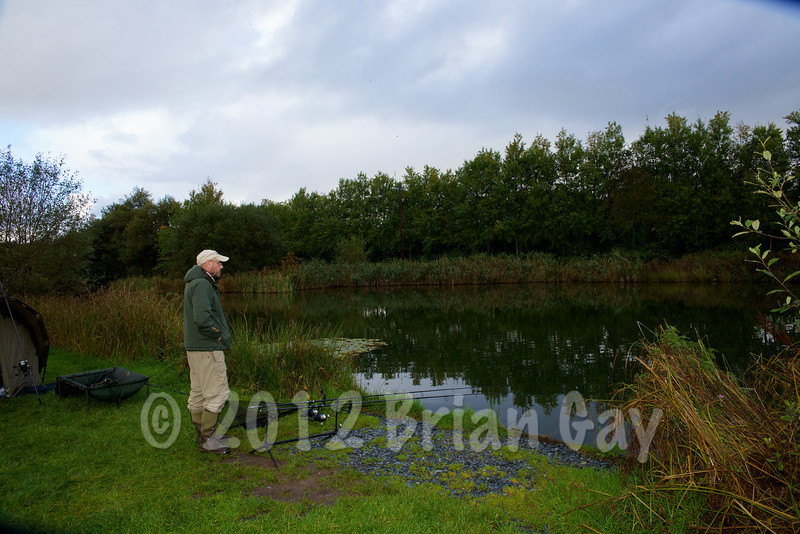 Waiting for a run at Milemead Specimen Lake © 2012 Brian Gay
