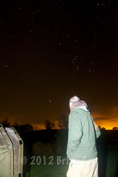 A few bleeps woke me at about 4 am but failed to materialise into a run. The red dawn sky is also populated by the stars. © 2012 Brian Gay