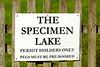 The Specimen Lake permit holders only sign at Milemad, Tavistock, Devon. © 2012 Brian Gay