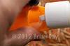 Pouring liquid Cell Stick Mix into a PVA bag © 2012 Brian Gay