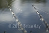 Traps Set. The autumnal morning sun glints on the rod tips and line still dripping with water from the earlier rainfall. © 2012 Brian Gay