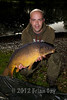 Chris Notley managed this 13 lb mirror on red maggots from the opposite end of the lake at peg 7. © 2012 Brian Gay