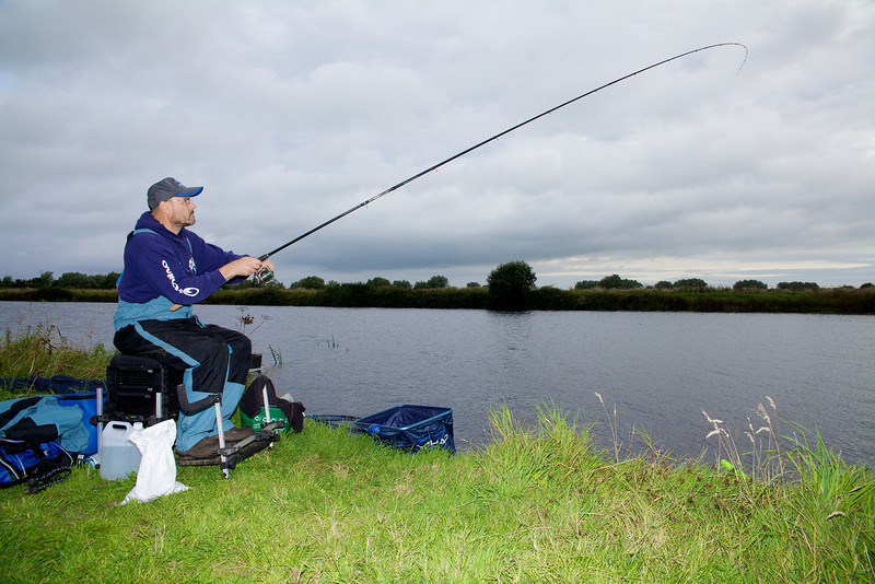 Fish On! First bream of the day is hooked for Brian Gay using the 13 ft. Garbolino Super G Distance Feeder rod. © 2011 Brian Gay