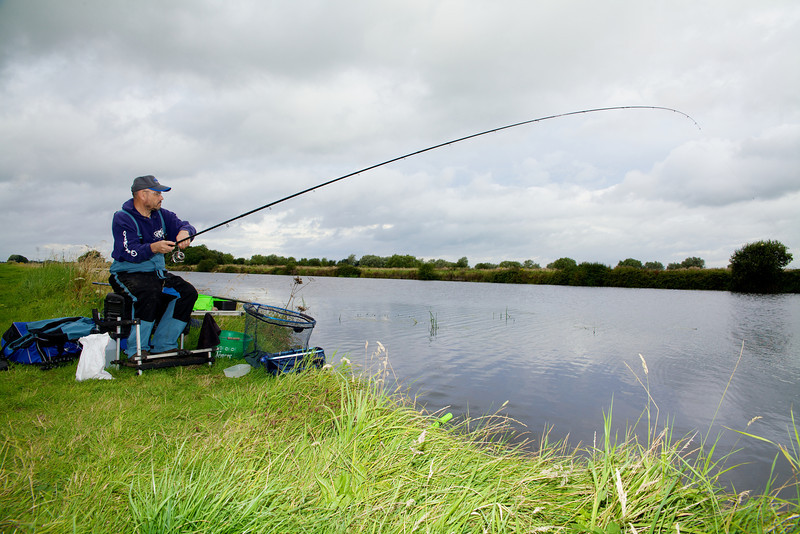 Fish On! Another bream is hooked at Gold Corner on the River Huntspill. © 2011 Brian Gay
