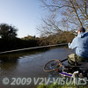 Playing a quality perch. River Kenn session 201109. © 2009 Brian Gay