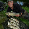 """Chris Ponsford with a catch of chub to 3 lb from the River Tone in Taunton © 2014 Brian Gay  <a href=""""http://www.v2v-visuals.co.uk"""">http://www.v2v-visuals.co.uk</a>"""