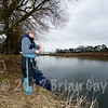 Brian Gay fishes Beat 2 on the Dorset Stour Throop Fishery. Loading the catapult.