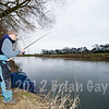 Brian Gay plays a chub caught on stick float and single maggot on Beat 2 of the Dorset Stour Throop Fishery.