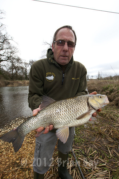 Throop fishery manager Chris Allport, with a typically clean Throop 5 lb-plus chub.