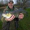 Brian Willson Ringwood AA bailiff on the Throop fishery Dorset Stour with a nice chub 5 lb 4 oz on trotted maggot.