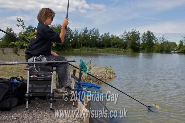 Misha Herring in action at Trinity Waters, Woodland Lake, 280510. © 2010 Brian Gay