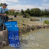 Feeding before casting is key with pellet waggler work. Brian Gay fishes the pellet waggler at Trinity Waters, Woodland Lake, 280510. © 2010 Brian Gay