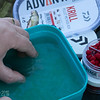 Preparing the pellets - fill the supplied bottle with water.