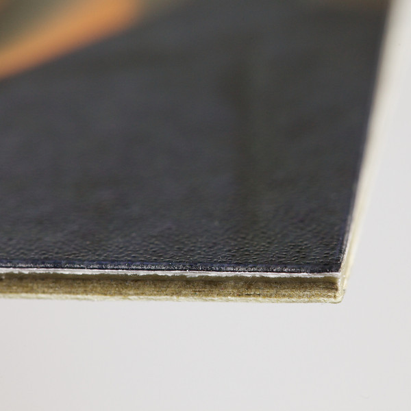 Close-up of the corner of the lustre heatseal finish print mounted on the 2000 micron card. © 2011 Brian Gay