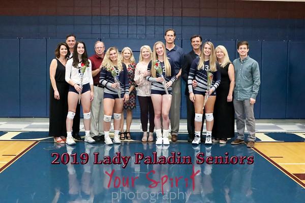 2019 Volleyball Senior Night