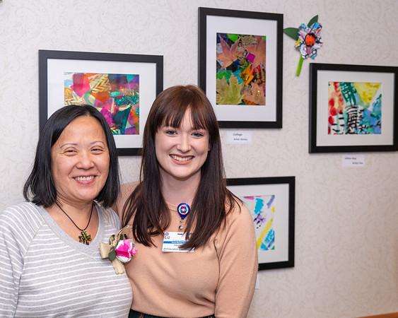Artist Kelly with Liz
