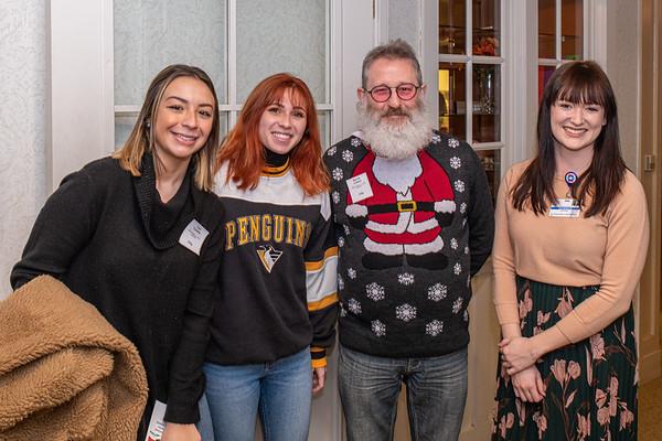 OMA volunteers (l-r) Carli Cardillo, Abby Putt, Bernie Lukacs with Liz