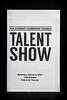 Talent Show Program