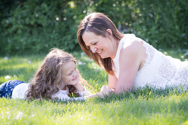 Connection between mother and daughter - Sylvan Lake Family Photos