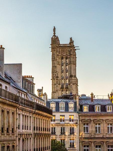 View from our Paris Apartment--Tour Saint Jacques