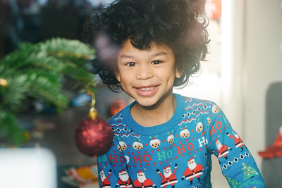 Portrait of a young boy on Christmas Day
